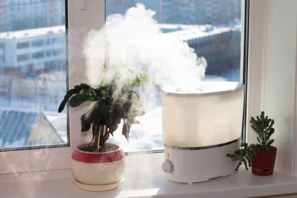le fonctionnement d'un humidificateur d'air