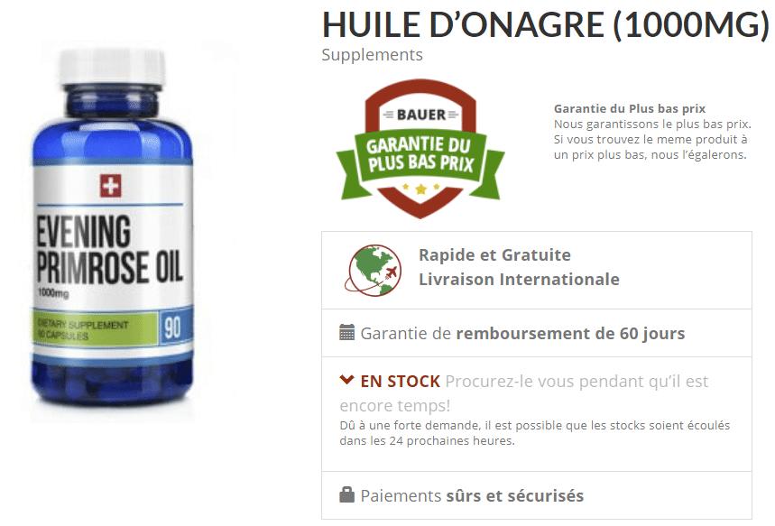 meilleure huile onagre