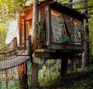 éclairer une cabane de jardin