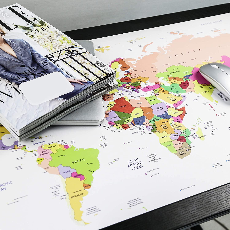 sous-main carte du monde